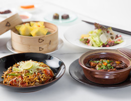 Taste of Yauatcha - a four course signature vegetarian / regular menu featuring Cantonese delicacies for one