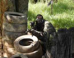 Experience a realistic simulation of war with paintball by Tao experience for one